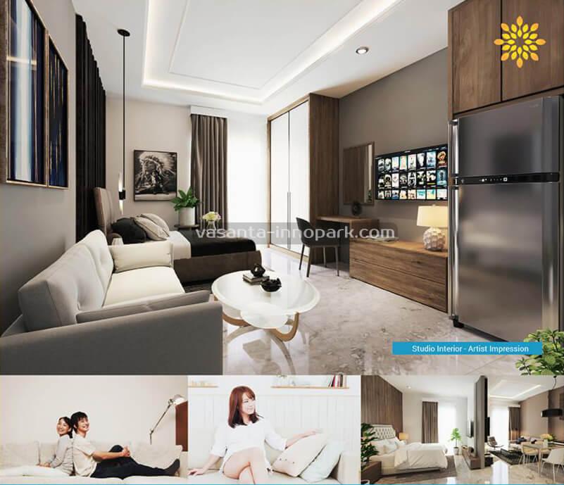 Apartemen Vasanta InnoPark Tipe 2 BR