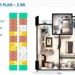 Denah Apartemen Vasanta InnoPark Cibitung 2 BR