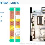 Denah Apartemen Vasanta Innopark Cibitung - Studio